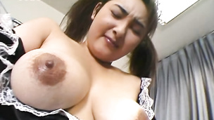 Sexy maid enjoys hardcore sex with awesome blowjob skills and hot cum on tits action