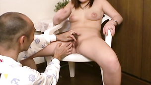 Japanese office milf in stockings gets nasty with her boss