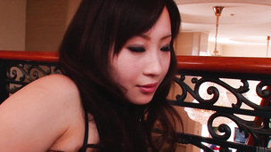 Yuwa Tokona gives a hot asian blow job and sex to two