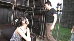 Japanese blowjob on two heads with naughty Maki Takei