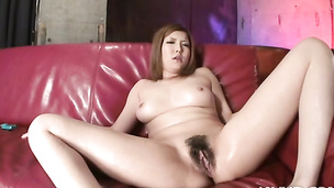 Busty Riana Natsukawa fucked hard from the rear