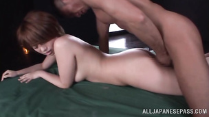Passionate maiden Rika Hoshimi gets her mouth and vag destroyed