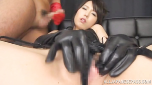 Luscious exotic perfection Chika Arimura is sucking this chopper with love and passion