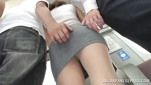 Fascinating japanese Shiho has her juicy cherry plowed from behind