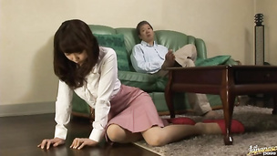 Appealing idol Azusa Kirihara gets pounded hard and fast by bf