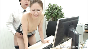 Magnificent eastern girlfriend Yurie Matsushima loves to be slurped up and to cum strong