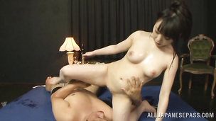 Worshipped exotic Sunao Sakura stands in different positions getting nailed