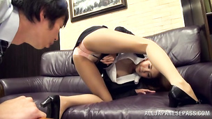 Exotic Ayaka Tomoda is exquisite and receives a penis in her fanny