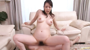 Captivating japanese Erena Tachibana with big tits gets drilled hard by bf
