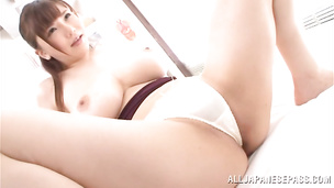 Dazzling Anri Okita gives her stranger a hot blowjob